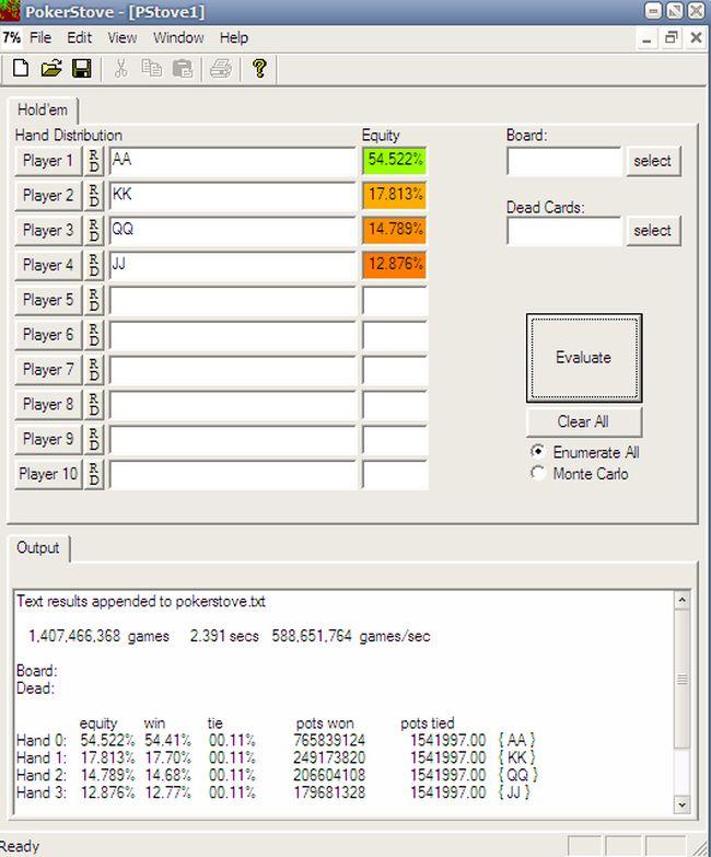 Калькулятор Игры В Покер