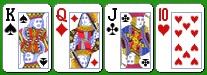 Комбинация бадуги из четырех карт