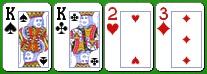 Комбинация бадуги три карты