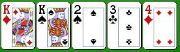 Комбинация карибского покера пара