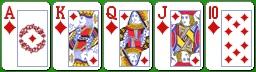 Комбинация китайского покера флэш-рояль