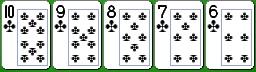 Комбинация китайского покера стрэйт-флэш
