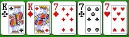 Комбинация китайского покера фулл-хаус