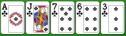 Комбинация китайского покера флэш