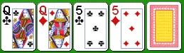 Комбинация китайского покера две пары