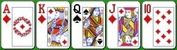 Комбинация королевского холдема стрэйт