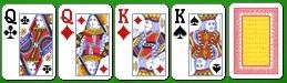 Комбинация королевского холдема две пары