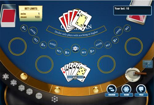 Раздача карт карибского покера