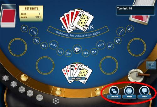 Действия карибского покера