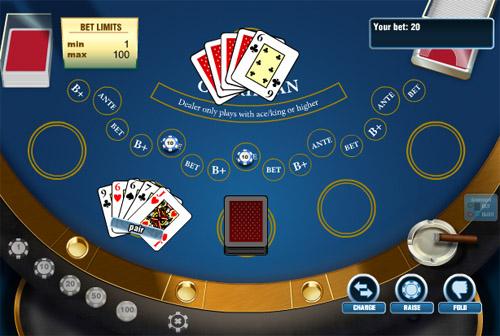 Игра нескольких боксах карибского покера