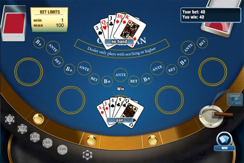 Определение победителя карибского покера