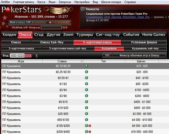 столы для игры в куршевель покер