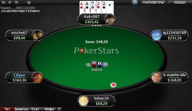 Выигрыш две пары комбинация Дро Покер